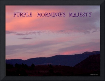 Purple Morning's Majestey poster
