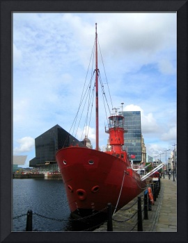 Red Ship at the Docks, Liverpool