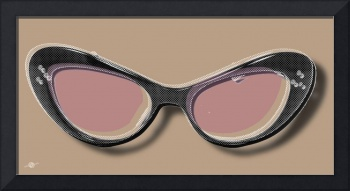 Retro Glasses Funky Pop Pink Rose Brown