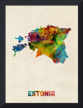 Estonia Watercolor Map