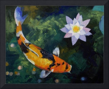 Showa Koi and Water Lily