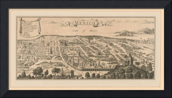 Vintage Pictorial Map of Mexico City (1890)