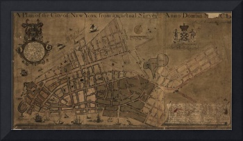 Vintage Map of New York City (1755)