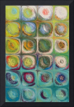 Circles and Squares 54. Textured Green Oils