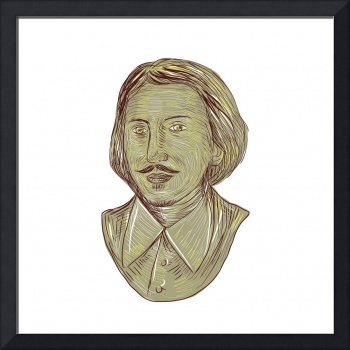 Christopher Marlowe Bust Drawing