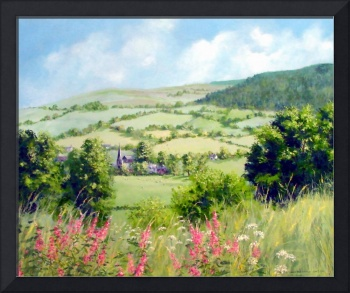 Summer in the Tanat valley acylic on canvas 60cm x