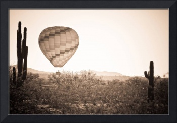 Hot Air Balloon On the Arizona Sonoran Desert In B