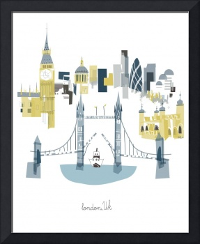 London Modern Cityscape Illustration