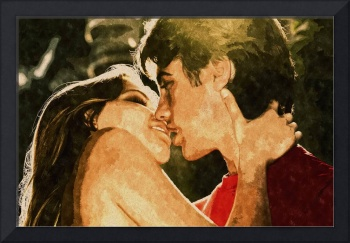 Young Lovers Kissing
