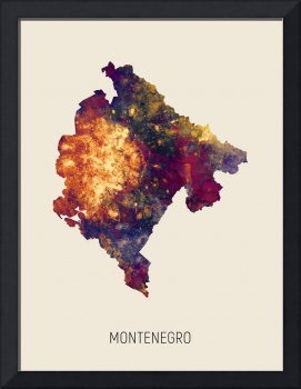Montenegro Watercolor Map