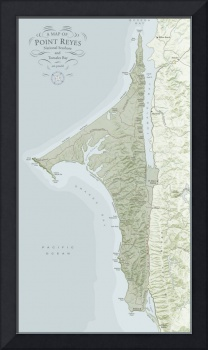 A Map of Point Reyes National Seashore and Tomales