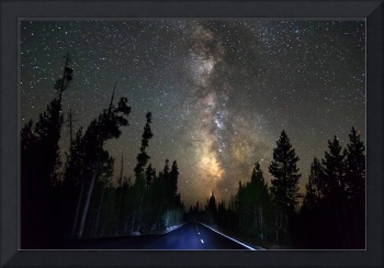 Forest Road Milky Way Night Cruising