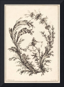 Jean-Jacques Avril~Ornament with a Monkey