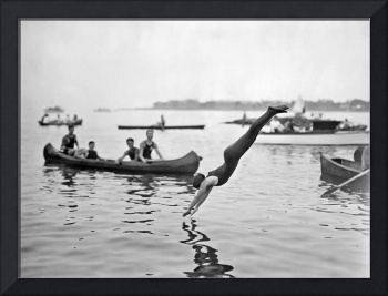 Josephine Bartlett at women's swimming contests at