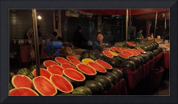 Watermelon at the Market, Thailand