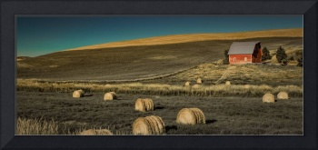 Red Barn at Haying Time