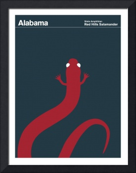 State Posters - Alabama State Amphibian: Red Hills