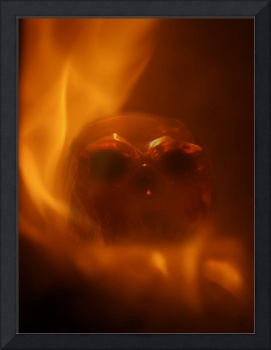 Flaming Skull - Horror Picture