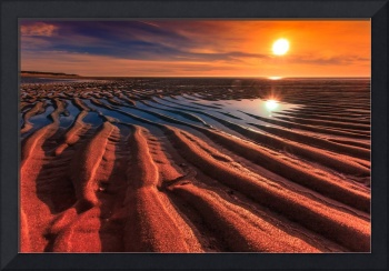 Cape-Cod-sunset-Sand-Ripples-at-Low-Tide