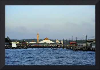 Floating City Mosque At Sunrise