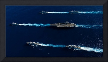 U.S. Navy ships in transit