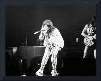 Mick Jagger playing to the crowd