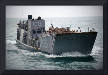 A Landing Craft Utility transits the Arabian Gulf