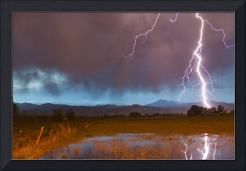 Lightning Striking Longs Peak Foothills 5