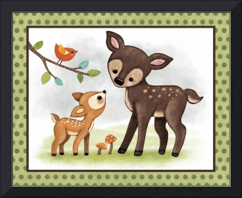 Woodland Animal Tales Series Childrens Nursery Art