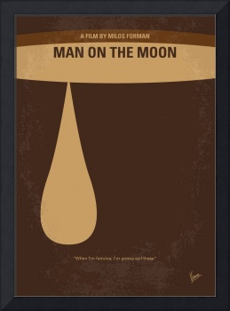 No675 My Man on the Moon minimal movie poster