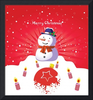 Merry Christmas Vector Art Poster