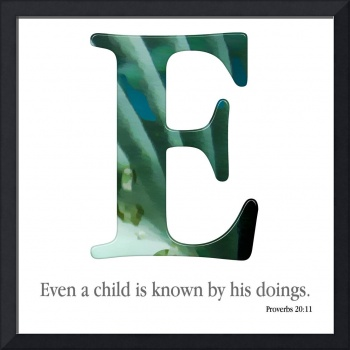 E, the Christian Alphabet