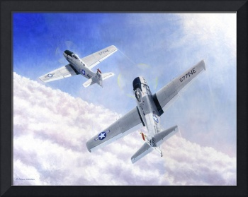Skyraiders Above Clouds