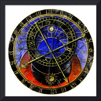 Astronomical Clock In Grunge Style