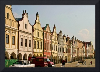 Renaissance Houses On The Square In Telc, Czech Re