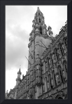 Brussels Town Hall - Black and White