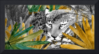 Tiger in forest and plams 24x48