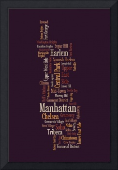 Manhattan New York Typographic Map
