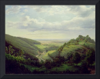 View from the Heilenberg Castle at Jugenheim on th