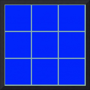 Blue Window 104 Canvas Contemporary Modern