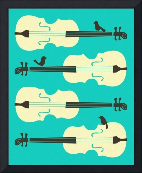 BIRDS ON CELLO STRINGS 4