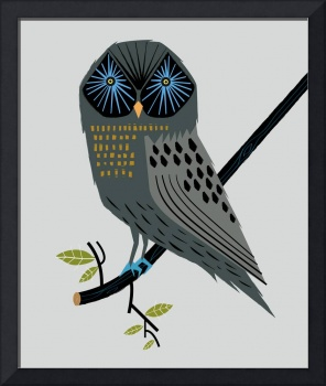 The Perching Owl - Limited Edition Print