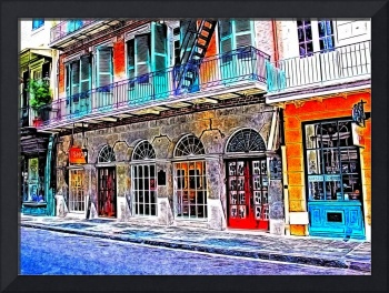 French Quarter Shops Photo Paint