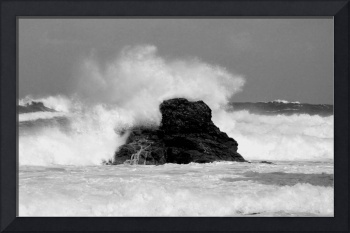 North Cornwall Stormy Sea
