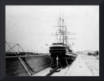 HW161 HMVS Nelson n the Alfred Graving Dock