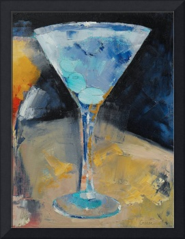 Blue Art Martini