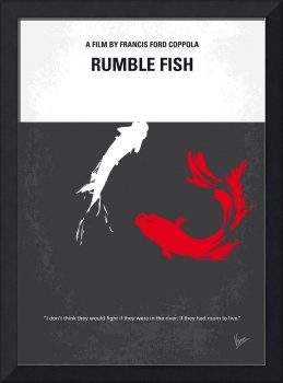 No073 My Rumble fish minimal movie poster
