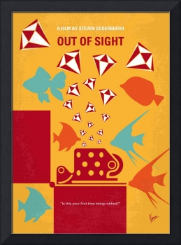 No953 My OUT OF SIGHT minimal movie poster