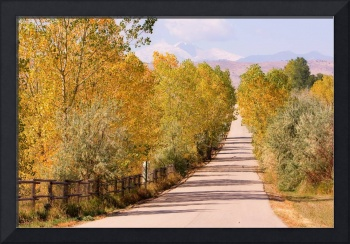 Country Road Autumn Rocky Mountain View