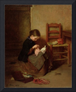 The Little Dressmaker, 1858 (oil on panel)